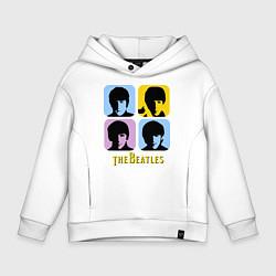 Детское худи оверсайз The Beatles: pop-art