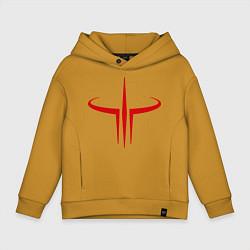 Толстовка оверсайз детская Quake logo цвета горчичный — фото 1