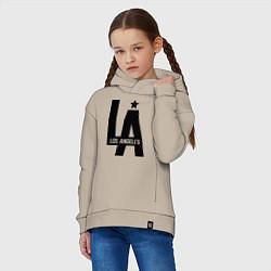 Толстовка оверсайз детская Los Angeles Star цвета миндальный — фото 2