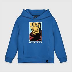 Толстовка оверсайз детская Iron Man цвета синий — фото 1