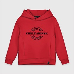 Толстовка оверсайз детская Made in Chelyabinsk цвета красный — фото 1