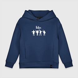 Толстовка оверсайз детская Beatles цвета тёмно-синий — фото 1