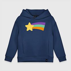 Толстовка оверсайз детская Радужный свитер Мэйбл цвета тёмно-синий — фото 1