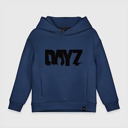 Толстовка оверсайз детская DayZ цвета тёмно-синий — фото 1
