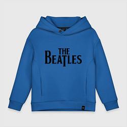 Толстовка оверсайз детская The Beatles цвета синий — фото 1