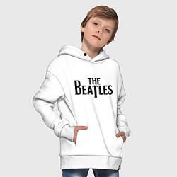 Толстовка оверсайз детская The Beatles цвета белый — фото 2