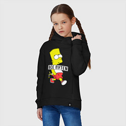 Толстовка оверсайз детская Барт Симпсон: Все путем цвета черный — фото 2