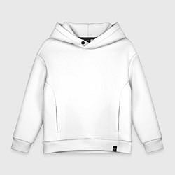 Толстовка оверсайз детская Ирландский костюм цвета белый — фото 1