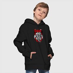 Толстовка оверсайз детская Slipknot Goat цвета черный — фото 2