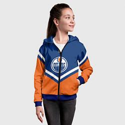 Толстовка на молнии детская NHL: Edmonton Oilers цвета 3D-синий — фото 2
