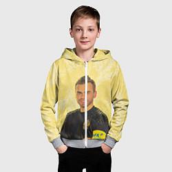 Толстовка на молнии детская Акинфеев за Россию цвета 3D-меланж — фото 2