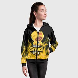 Толстовка на молнии детская BRAWL STARS SALLY LEON цвета 3D-черный — фото 2