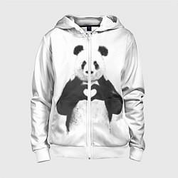 Детская толстовка на молнии Panda Love