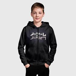 Толстовка на молнии детская No Game No Life лого цвета 3D-черный — фото 2