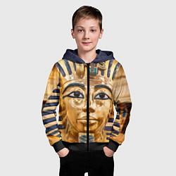 Толстовка на молнии детская Фараон цвета 3D-черный — фото 2