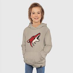 Толстовка детская хлопковая Phoenix Coyotes цвета миндальный — фото 2