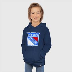 Толстовка детская хлопковая New York Rangers цвета тёмно-синий — фото 2