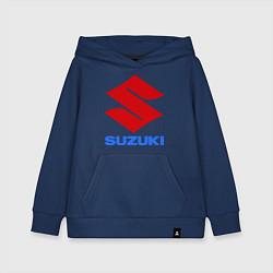 Толстовка детская хлопковая Suzuki цвета тёмно-синий — фото 1