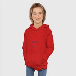 Толстовка детская хлопковая Узор славянского сарафана цвета красный — фото 2