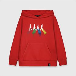 Толстовка детская хлопковая Beatles Color цвета красный — фото 1