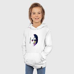 Толстовка детская хлопковая John Lennon: Techno цвета белый — фото 2