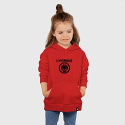 Толстовка детская хлопковая The Offspring цвета красный — фото 2