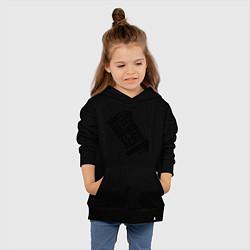 Толстовка детская хлопковая More 2Pac цвета черный — фото 2
