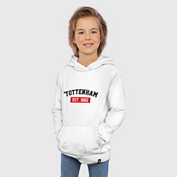 Толстовка детская хлопковая FC Tottenham Est. 1882 цвета белый — фото 2