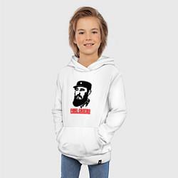 Толстовка детская хлопковая Fidel Castro цвета белый — фото 2