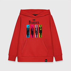 Толстовка детская хлопковая Walking Beatles цвета красный — фото 1