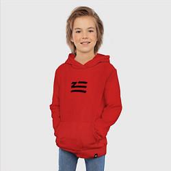 Толстовка детская хлопковая ZHU цвета красный — фото 2