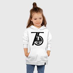 Толстовка детская хлопковая The Hunger Games 75 цвета белый — фото 2