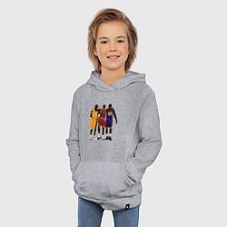Толстовка детская хлопковая Kobe, Michael, LeBron цвета меланж — фото 2