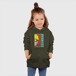 Толстовка детская хлопковая Наруто цвета хаки — фото 2