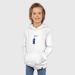 Толстовка детская хлопковая Мбаппе цвета белый — фото 2