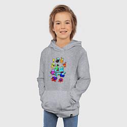 Толстовка детская хлопковая AMONG US цвета меланж — фото 2