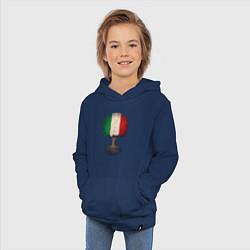 Толстовка детская хлопковая Italy Tree цвета тёмно-синий — фото 2