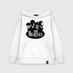Толстовка детская хлопковая The Beatles Band цвета белый — фото 1