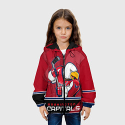 Куртка 3D с капюшоном для ребенка Washington Capitals - фото 2