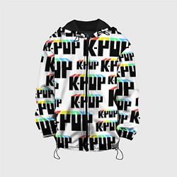 Куртка с капюшоном детская K-pop Pattern цвета 3D-черный — фото 1