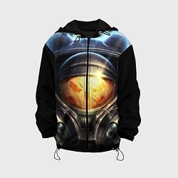 Детская 3D-куртка с капюшоном с принтом StarC 2, цвет: 3D-черный, артикул: 10109228605458 — фото 1
