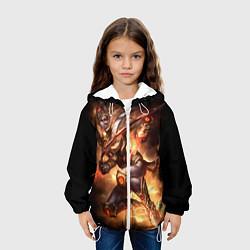 Детская 3D-куртка с капюшоном с принтом StarC 3, цвет: 3D-белый, артикул: 10109228905458 — фото 2