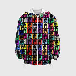 Куртка 3D с капюшоном для ребенка The Beatles: pop-art - фото 1