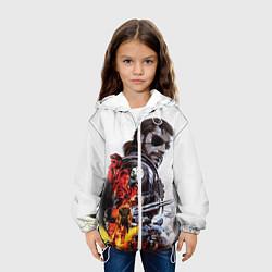 Куртка с капюшоном детская Metal gear solid 2 цвета 3D-белый — фото 2