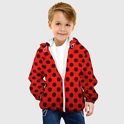 Куртка с капюшоном детская Леди Баг: узор цвета 3D-белый — фото 2