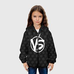 Куртка с капюшоном детская Versus цвета 3D-черный — фото 2