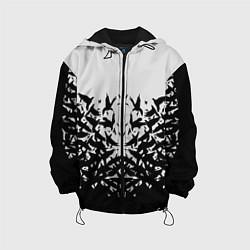 Куртка с капюшоном детская Птичий вихрь цвета 3D-черный — фото 1
