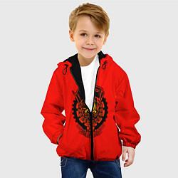 Детская 3D-куртка с капюшоном с принтом СССР, цвет: 3D-черный, артикул: 10125593305458 — фото 2
