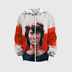 Детская 3D-куртка с капюшоном с принтом Молодой Цой, цвет: 3D-белый, артикул: 10129707805458 — фото 1