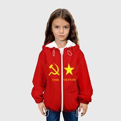 Детская 3D-куртка с капюшоном с принтом СССР и Вьетнам, цвет: 3D-белый, артикул: 10136223105458 — фото 2